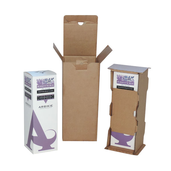 Arbikie Gin Bottle Box with brown cardboard outer packaging.