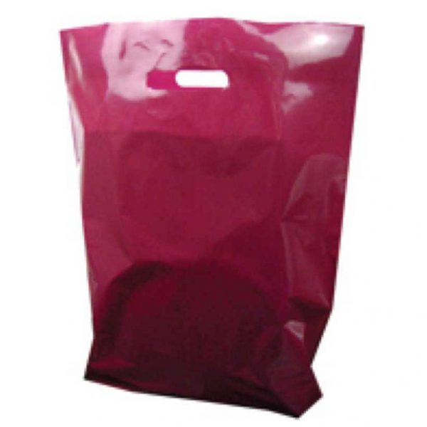 Polythene Bag in Burgundy