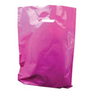 Polythene Bag in Cerise Pink