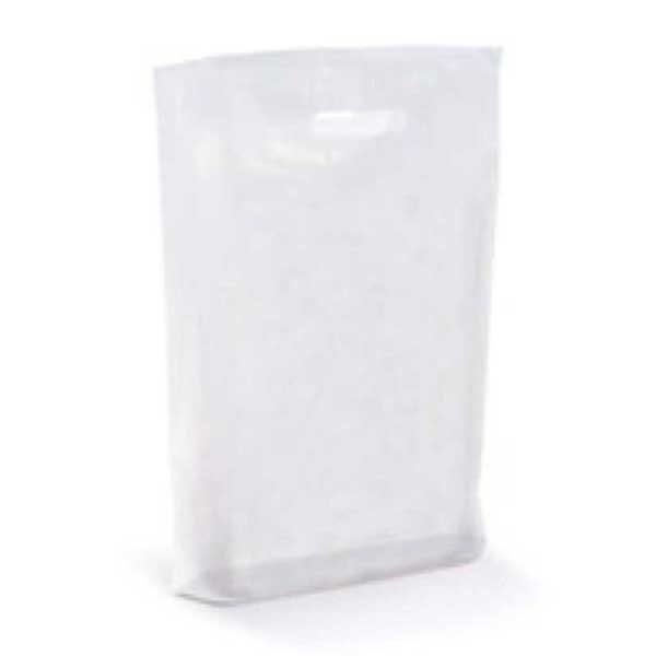 Polythene Bag in Frosted White