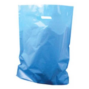 Polythene Bag in Light Blue