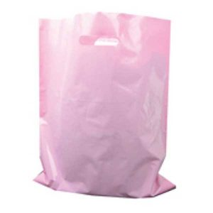 Polythene Bag in Pink