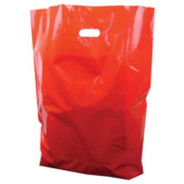 Polythene Bag in Red